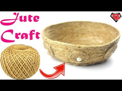 DIY Jute Twine Craft Ideas || Jute Rope Arts & Crafts || Easy Make Jute Basket || DIY Rope Bowl