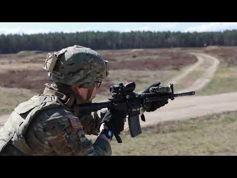 U.S. Army Soldiers Conduct Short-Range Rifle Marksmanship Training