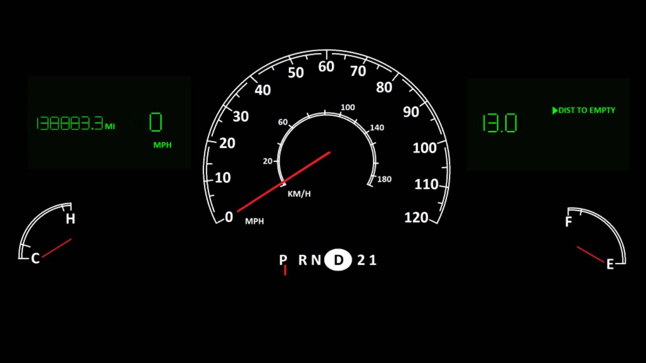 Lincoln Towncar Instrument Cluster Animation Youtube