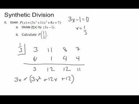 Synthetic Division - YouTube