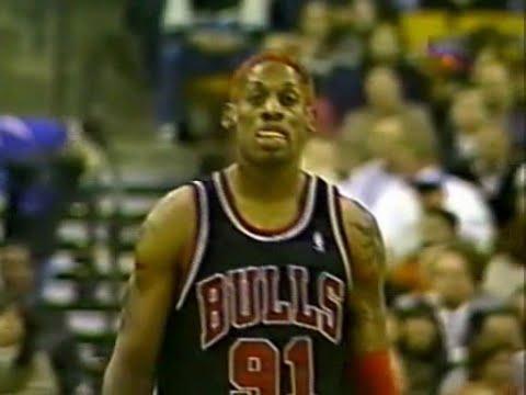 wholesale dealer c98b7 d89ba Dennis Rodman (2pts/22rebs/2assts) vs Dallas Mavericks (1998 ...