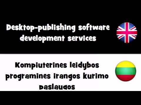 VOCABULARY IN 20 LANGUAGES = Desktop publishing software development services