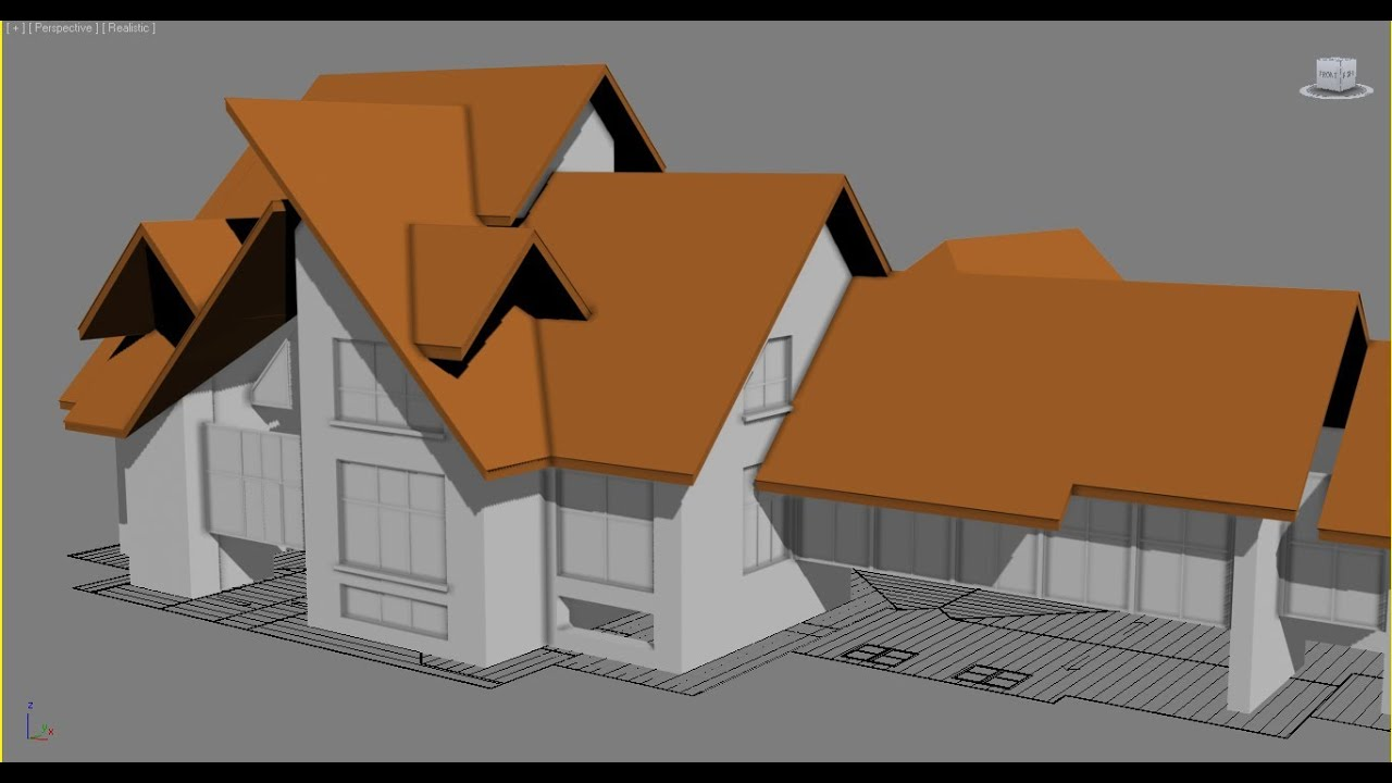 exterior house designs 3d max. 3ds Max Exterior Modeling a Complete House Part 4  P6 Roof YouTube