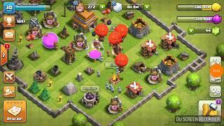 Fazendo algumas batalhas (clash of clans)