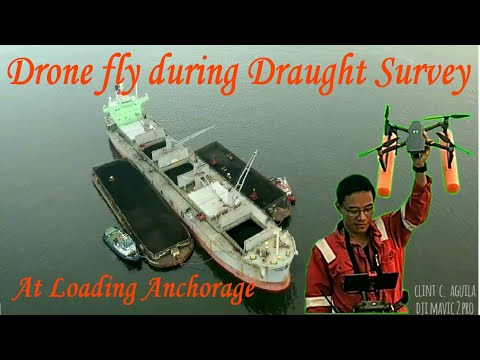 How to Fly a Drone on board Ship for Cargo Draught Survey