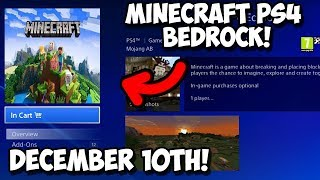 Minecraft PS4 Bedrock Edition - Release Date Confirmed! Leaks/Picture Proof!