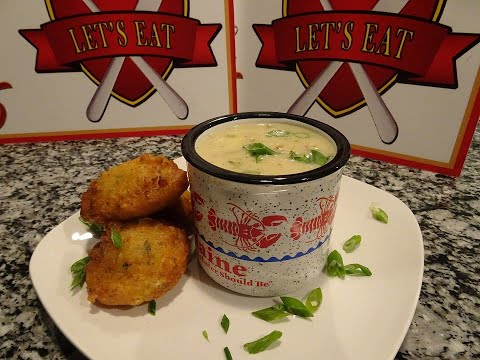 How To Make New England Style Clam Chowder & Clam Cakes