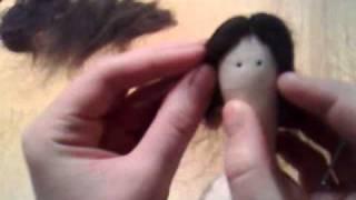 мастер-класс волосы для куклы. часть 1