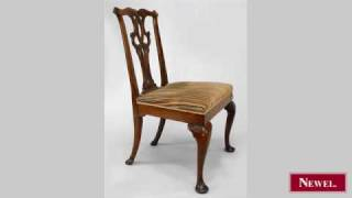 Antique George Ii Mahogany Side Chair With Interlaced Scroll