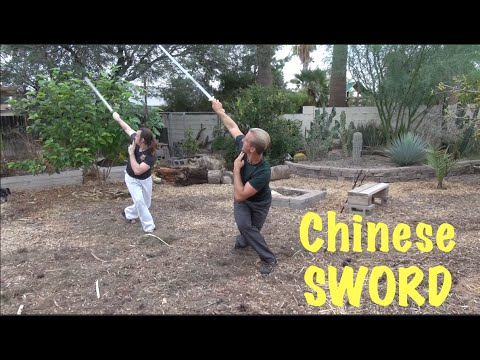 Chinese Straight Sword Master  Real Training!