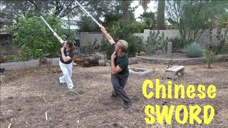 Chinese Straight Sword Master - Real Training!