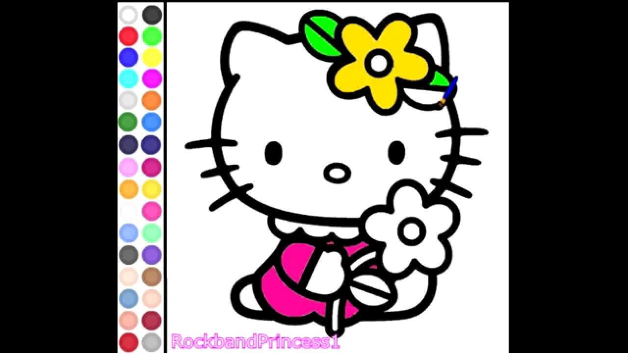 children video games hello kitty painting free children games youtube - Pictures To Paint For Children