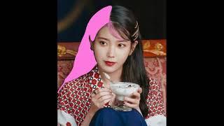 [아이유] 핑크 머리 염색 (무지개 앞머리)