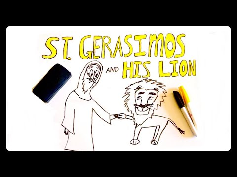 ST. GERASIMOS (OF THE JORDAN) AND HIS LION | Draw The Life Of A Saint