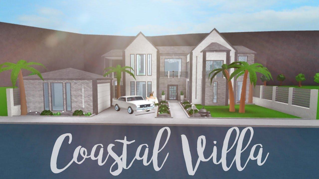 Bloxburg coastal villa 73k youtube for Building a modern home for 100k