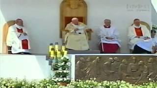 VII Pielgrzymka Papieża Jana Pawła II do Polski -  Msza św. w Sandomierzu 1999