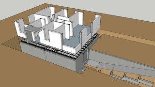 Jak zrobić żebra rozdzielcze? Organizacja pracy to podstawa na budowie.  #Vlog z budowy. Sketchup