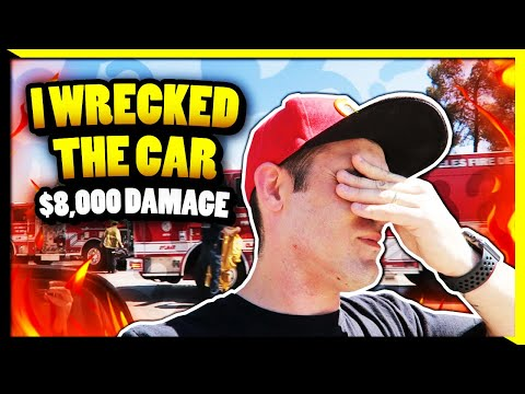 I WRECKED MY CAR  - $8,000 in Damages 🤬 ( We're OK  🙏)