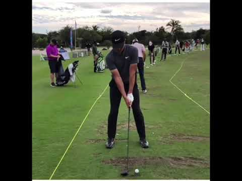 Cameron Champ Why He Hits It So Far! Side View Golf Swing Slow Motion
