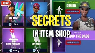 SECRETS Inside Fortnite's Item Shops! *Rare Skins Return Teasing*