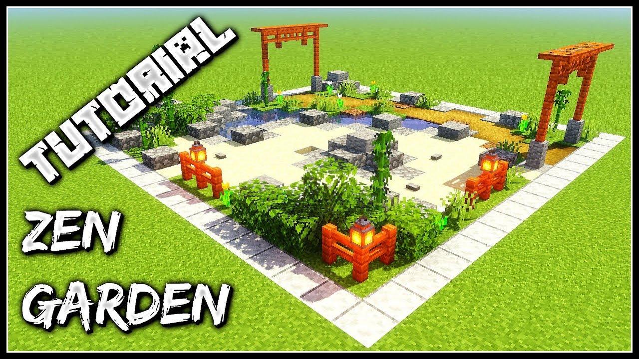 How To Build A Zen Garden | Minecraft Tutorial - YouTube