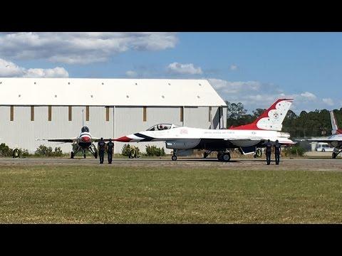 USAF Thunderbirds at 2016 Gateway to Florida Air Show - Lake City, FL 10-Apr-2016