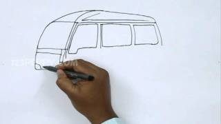 How to Draw a Cartoon Van