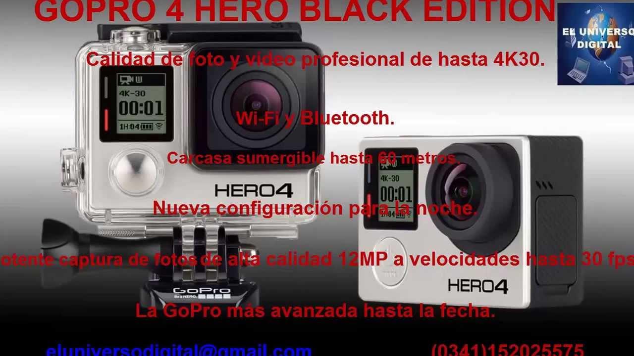 Gopro Hero 4 caracteristicas,Gopro Rosario,Santa Fe,vendo camara ...