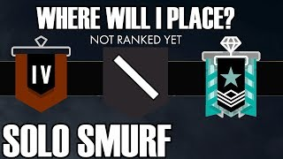 Solo Smurf: The Final Placement Match - Rainbow Six Siege (White Noise)