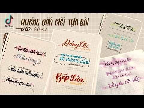 Tổng hợp TikTok | Hướng dẫn viết tựa bài (EP 1) | Journal Title Ideas | Happy Hidari