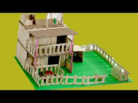 How To Make Modern Popsicle Sticks House Nusrat Diy Craft