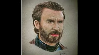 Avengers: End Game | Captain America Drawing | VIVEK CHATTRBAN
