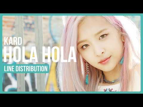 KARD - Hola Hola Line Distribution (Color Coded)