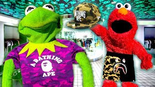 kermit-the-frog-and-elmo-buy-bape-clothing