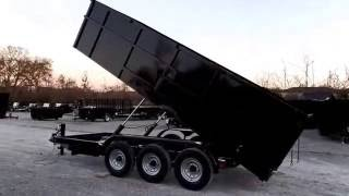 Hybrid Dump Trailer 7x18 With 4ft Sides