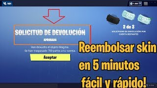 How to return SKINS AND BAILES in FORTNITE in 5 MINUTES!!