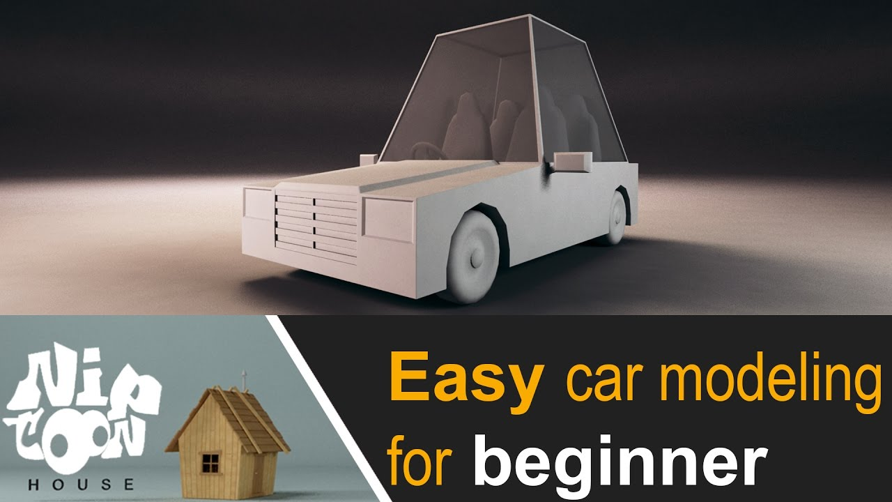 Low Poly Easy Car Modeling Timelapse Youtube