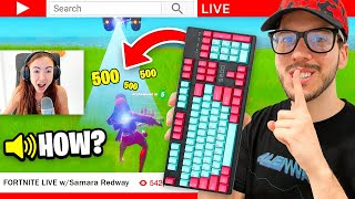WIRELESS KEYBOARD PRANK on My Girlfriend! (Fortnite)