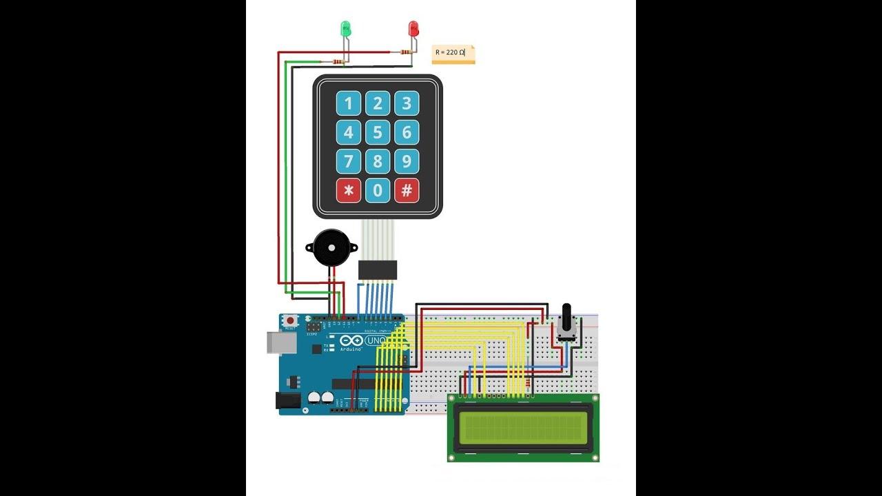 Arduino keypad password قفل الكتروني اردوينو جزء youtube