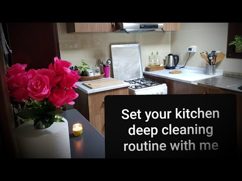 Schedule your deep cleaning routine with me| kitchen deep cleaning routine |