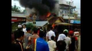 Kebakaran di Pasar Gotong Royong Batumarta II Lubuk Raja OKU SUMSEL