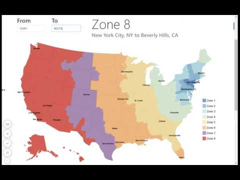 USPS Zone Map / Zip Code To City Look Up