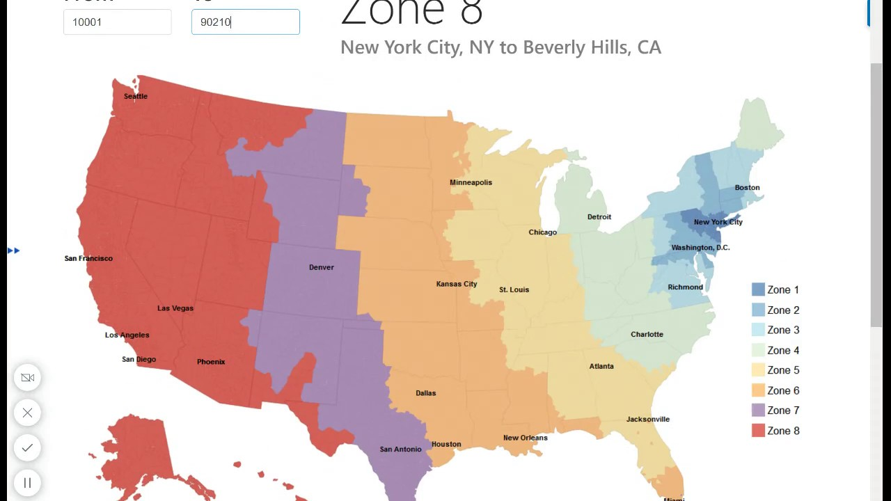USPS Zone Map / Zip Code to City Look Up   YouTube