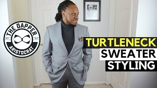 How to Style a Mens Turtleneck Sweater | Roll Neck Sweater Outfit Ideas