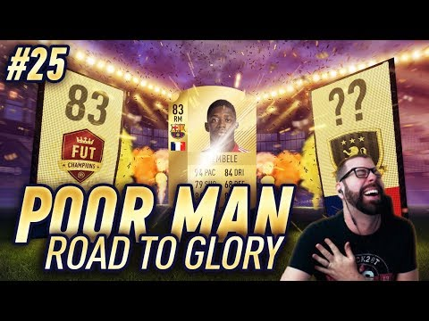 FUT CHAMPIONS REWARDS - I PACK OUSMANE DEMBELE and POGBA! - Poor Man RTG #25 - FIFA 18 Ultimate Team