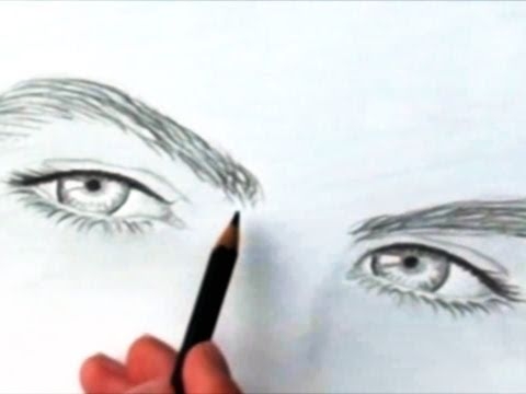 How to draw eyes realistic - part 3 (by Riar) - YouTube