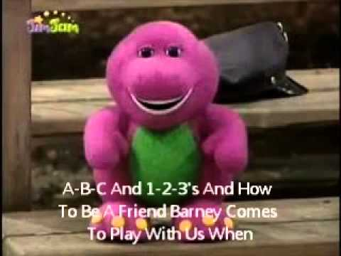 Barney And Friends Theme Song With Lyrics Youtube Youtube