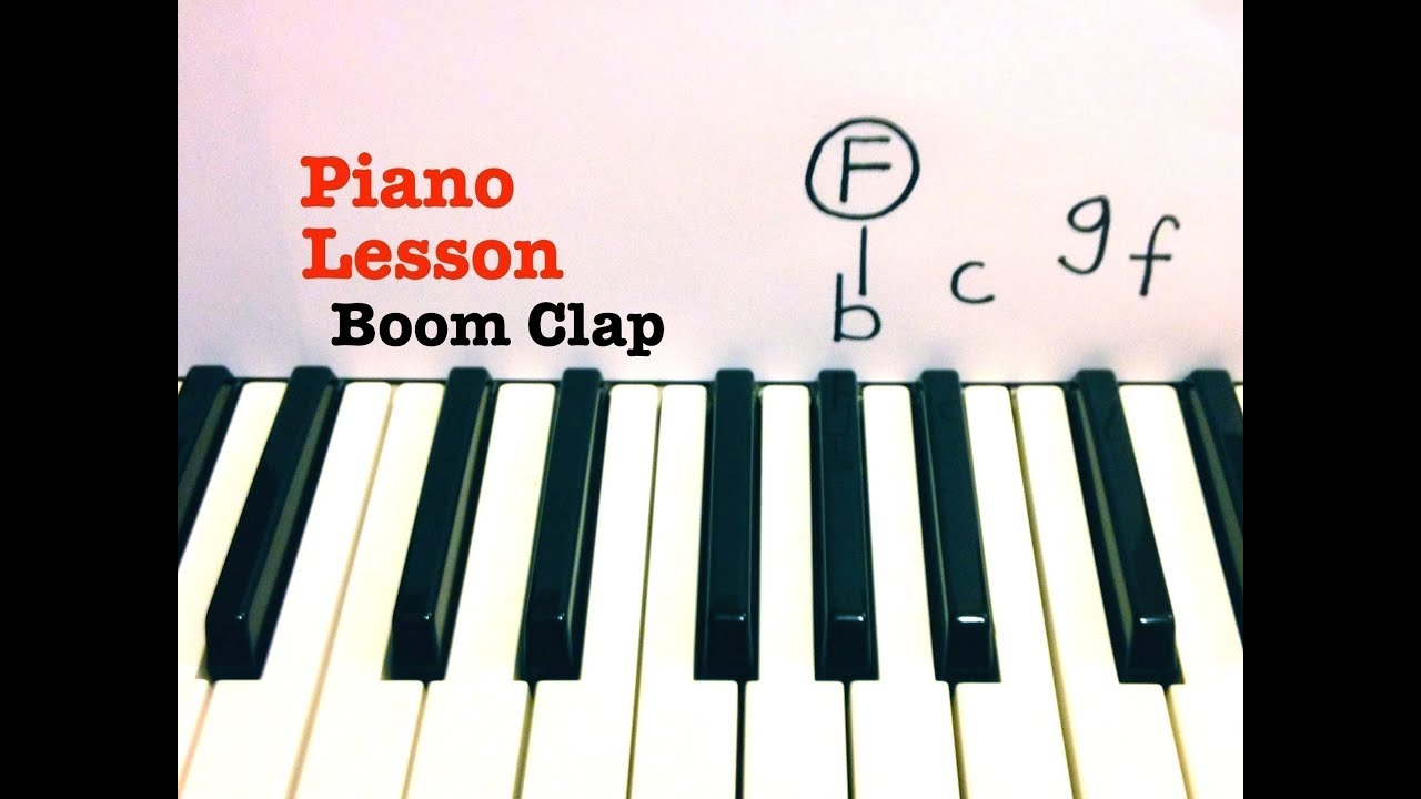 Boom clap piano lesson tutorial the fault in our stars