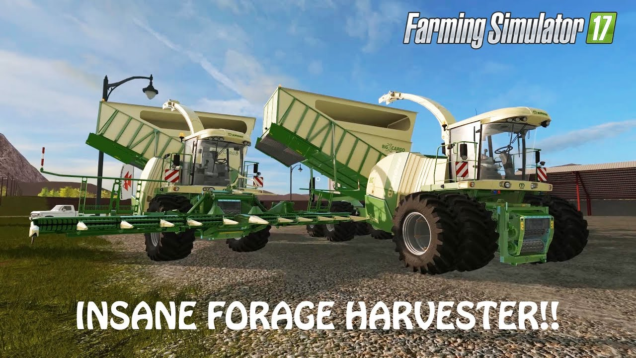 INSANE FORAGE HARVESTER MOD in Farming Simulator 2017 | INSANE AWESOME | PC  Gaming