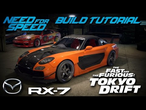 Need for Speed 2015 | Tokyo Drift Han's Mazda RX7 Build Tutorial | How To Make